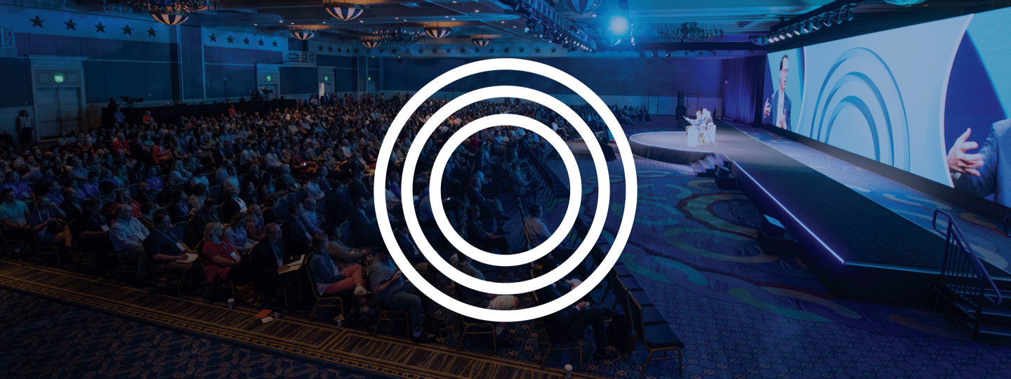 Audience photo with Outcomes logo