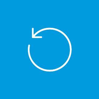 White icon of an arrow in a circular shape.