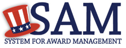 Logo for the System for Award Management.